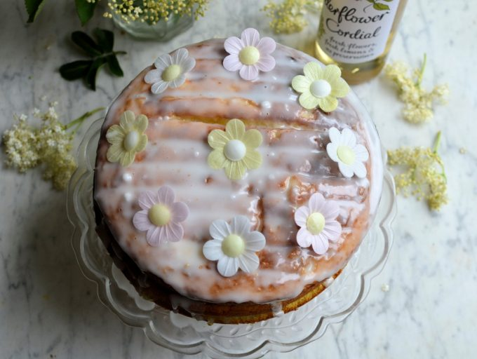 Apple, Lemon and Elderflower Drizzle Cake - Lavender and Lovage