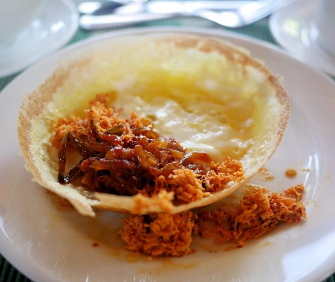 Sri lanka for food lovers a culinary map lavender and lovage egg hopper with pol sambol forumfinder Choice Image