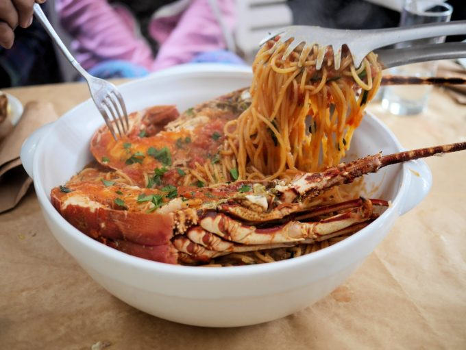 Lobster Spaghetti at Ageri Restaurant