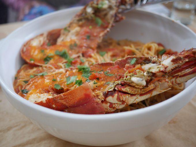 Lobster Spaghetti at Ageri Restaurant