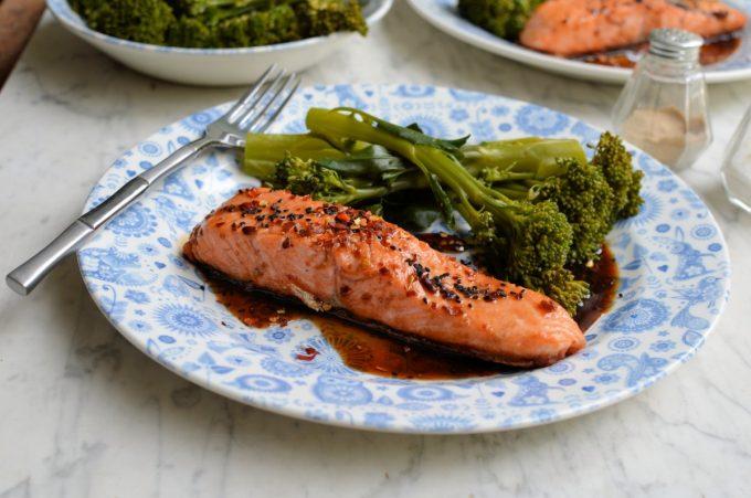 Balsamic Honey Chilli Salmon