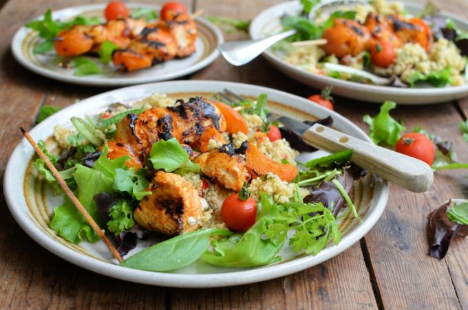 Moroccan Chicken & Apricot Salad with Tabbouleh