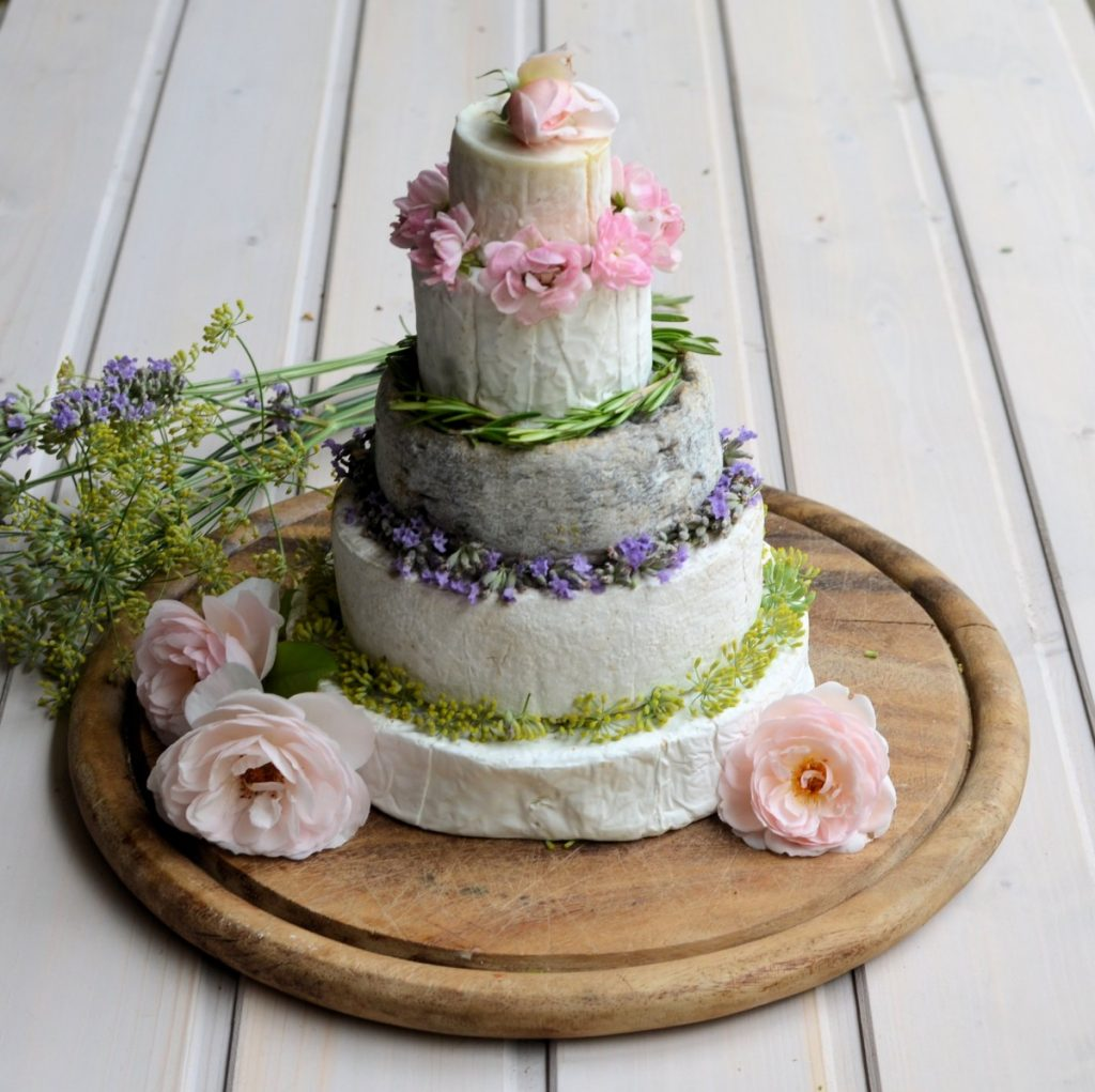 Summer French Cheese Cake Tower Lavender and Lovage