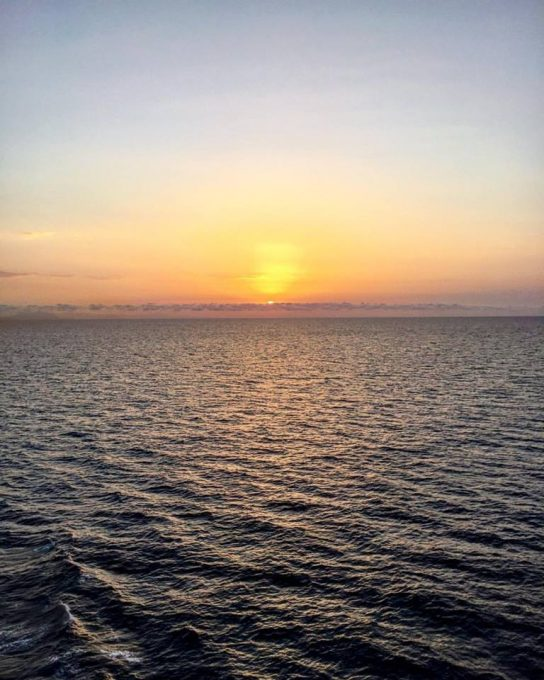 Sunset at Sea in Britannia