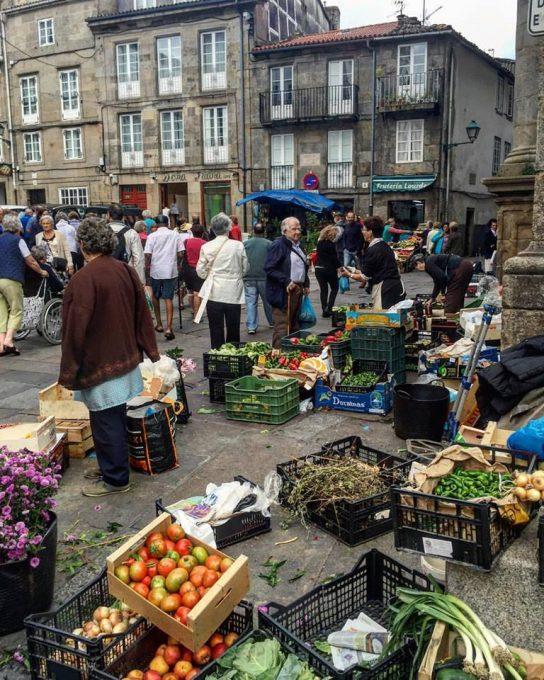 Street Market in Santiago de Compostela