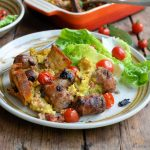 Overnight Sage & Sausage Breakfast-Supper Bake