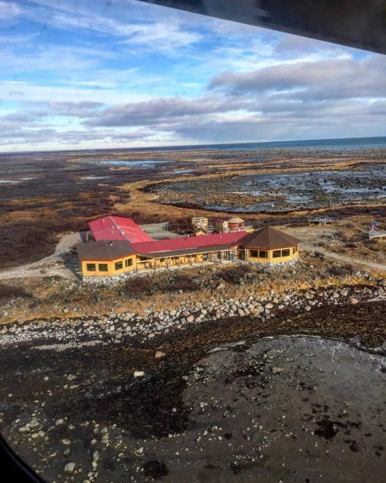 Seal River Lodge from the air