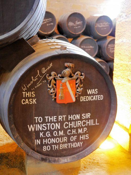 Sherry Barrel dedicated to Sir Winston Churchill