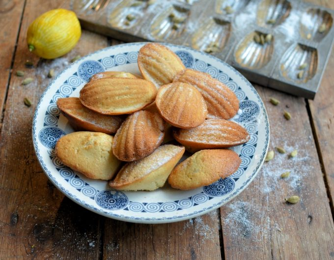 Cardamom, Honey and Lemon Madeleines - Lavender and Lovage
