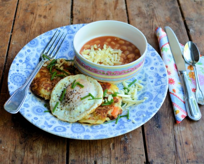 Cheesy Bubble and Squeak Cakes