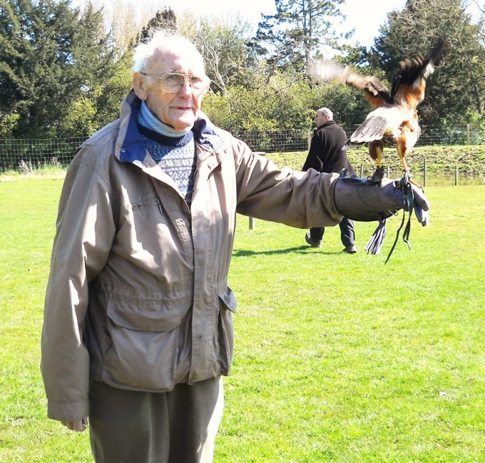 Dad at the York Bird of Prey Centre