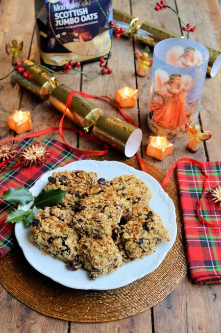 Spiced Christmas Fruit Flapjack