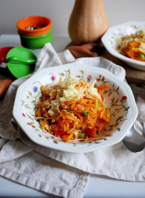 Butternut Squash Spaghetti with Peppers, Shallots and Pine Nuts ...