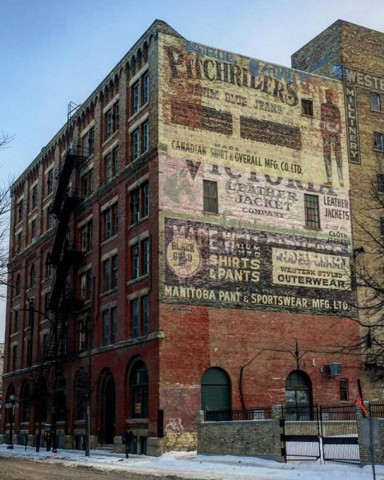 Vintage Advertising on old Winnipeg Buildings