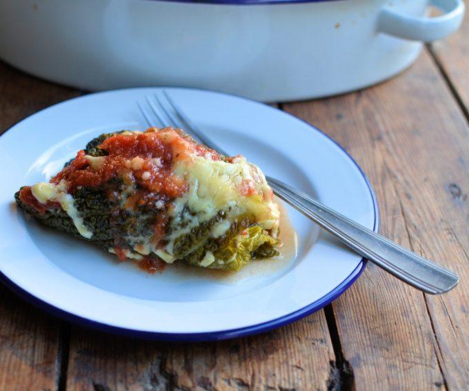 Sausage Stuffed Cabbage Rolls