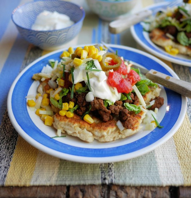 Indian Taco with Bannocks Fry Bread