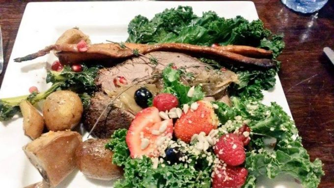 Native Delights Bison Roast and Berry Salad