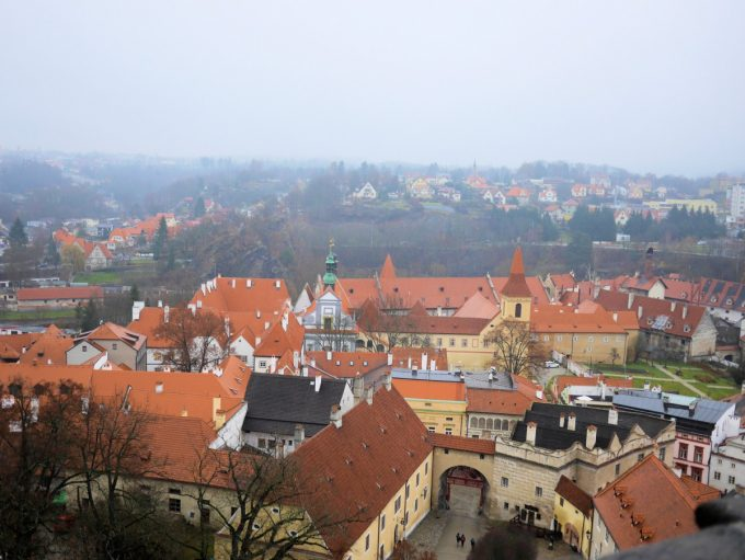 View from the castle in Český Krumlov