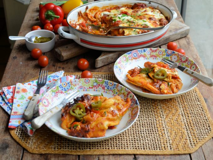 Pork and Pepper Enchiladas