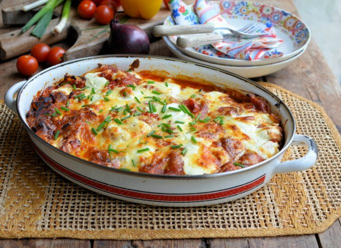 The Lacto-Free Challenge and Pork and Pepper Enchiladas
