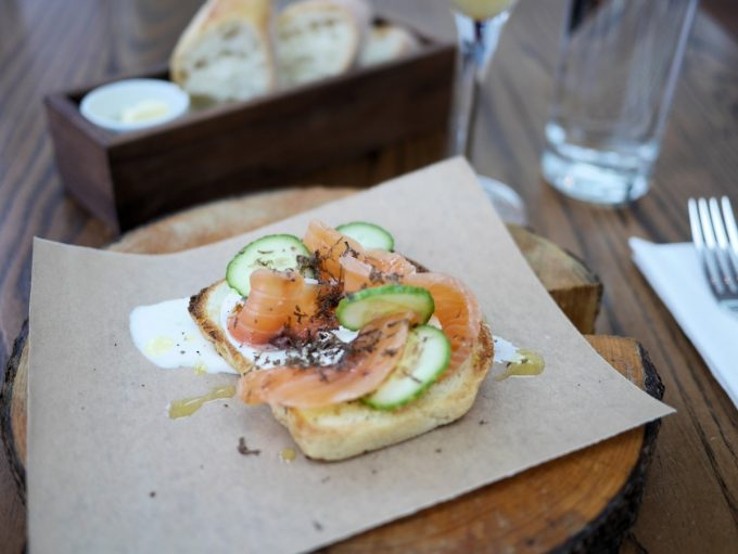 Truffled Gravadlax served on toast with Truffle butter, Truffle cream and shaved fresh truffles