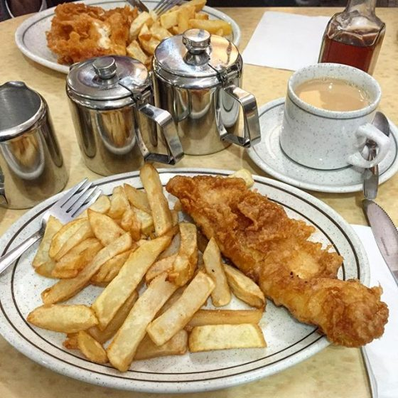 Fish and Chips in Wackers Scarborough