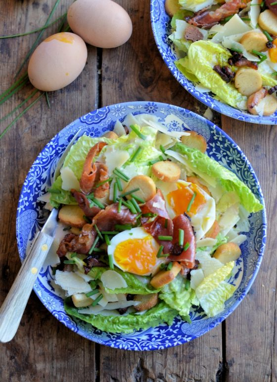 Bacon and Egg Caesar Salad