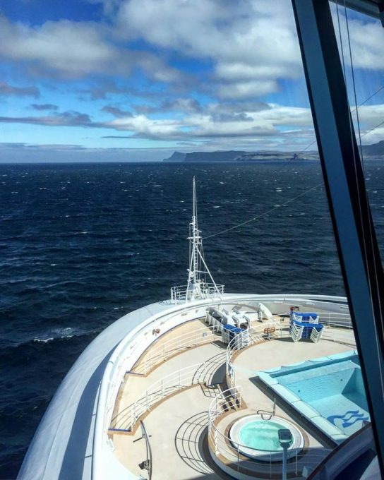 From the bridge of the Caribbean Princess