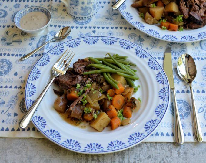 Elegant Cutlery and Beef Brisket Pot Roast!