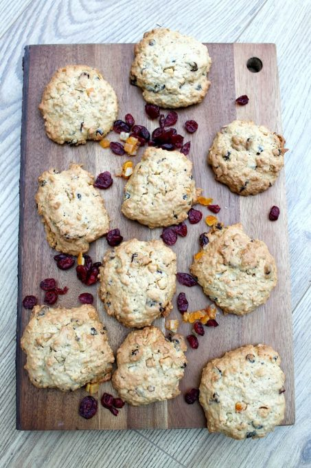 Ginger Cranberry Oat Cookies