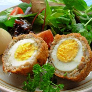 Picnic Time! Authentic Scotch Eggs with Sausage and Sage for Herbs on Saturday