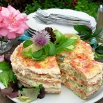 A French Country Affair ~ An Elegant Omelette Gateau with Chive Flowers
