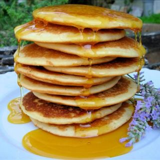 The Last Days of Summer…….Home-Made Lavender Honey and Pancakes