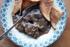 Beef Collops – Sliced Beef in Gravy