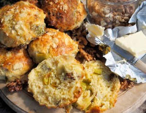 Wensleydale Cheese, Leek & Walnut Scones