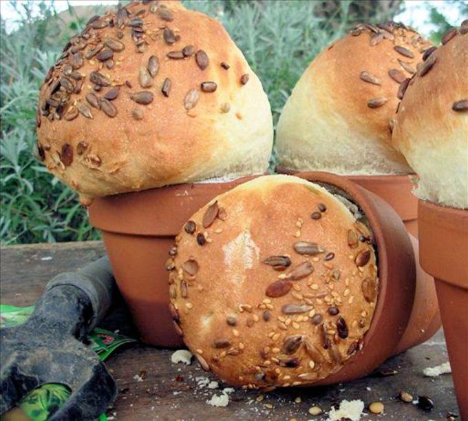 Rustic Flower Pot Bread Loaves