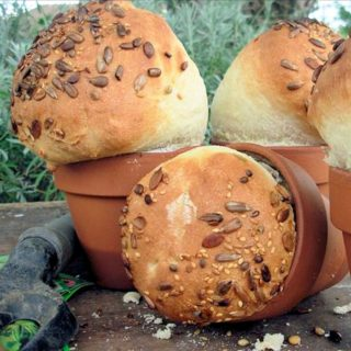 Baps, Bloomers and Barm Cakes – Celebrating British Bread Week with Rustic Flower Pot Bread Loaves