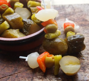 Banderillas Picantes – Pickles on Skewers for Tapas