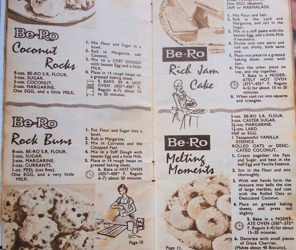 mum 39 s old retro vintage cookbook by be ro flour 1950 39 s
