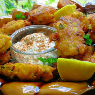 Scottish Salt Cod for a Tapas Lunch – Bacalao Fritters – Salt Cod Fritters with Saffron and Pimenton