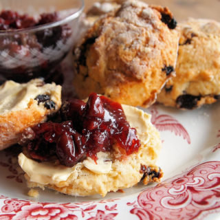 Scones for Sunday and Birthday Parties! Buttermilk and Mixed Fruit Scones with Sour Cherry Jam