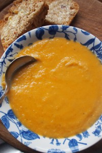 Curried Scottish Carrot and Lentil Soup