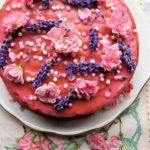 Vanilla, Strawberry & Rose Victoria Sponge Cake for Lavender and Lovage's 1st Year Blog Birthday!