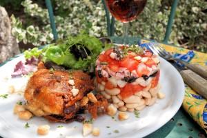 Cassoulet salade d'été avec confit de canard (Summer Cassoulet Salad with Preserved Duck)