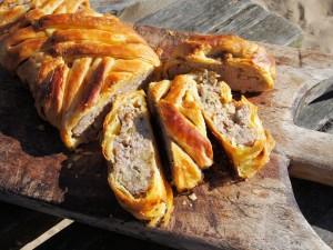 Sausage Plait with Sage and Onion (Picnic Pie)