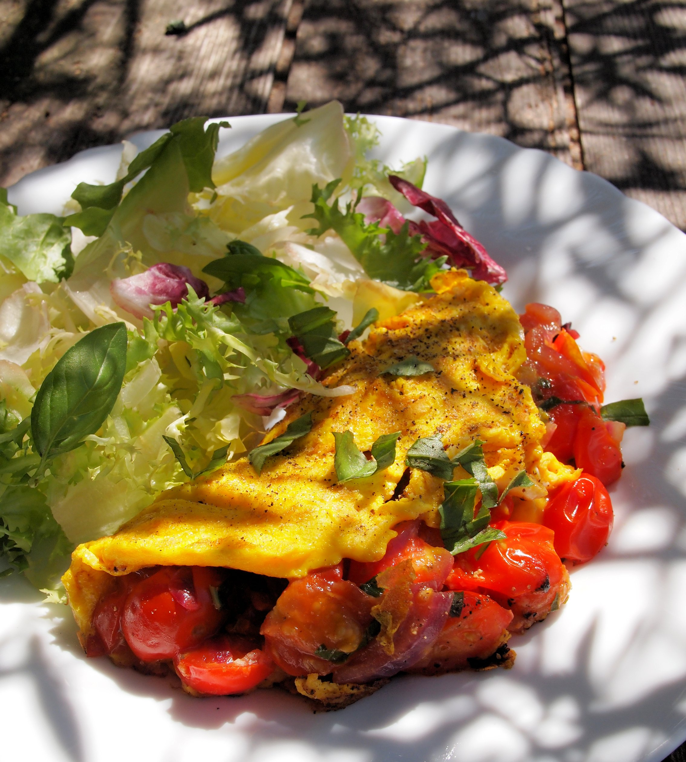 Cheese & Tomato Breakfast Omelette (170 calories ...