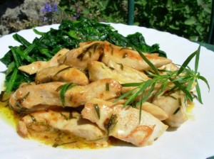 Low Fat Très Rapide French Tarragon Chicken