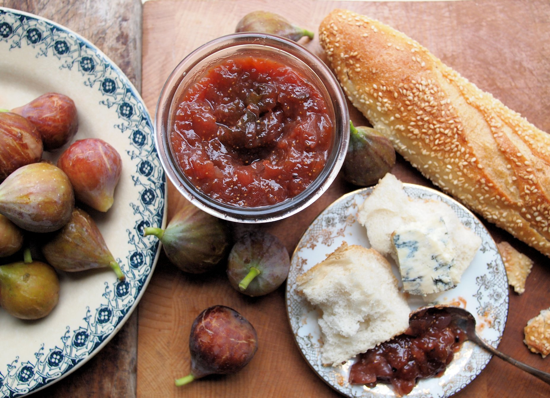 From the Autumn Preserves Pantry – Apple, Fig and Pear Chutney with Cardamom