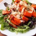 Sunday Lunch: Roast Pumpkin Salad with Pancetta, Grana Padano and Pumpkin Seeds