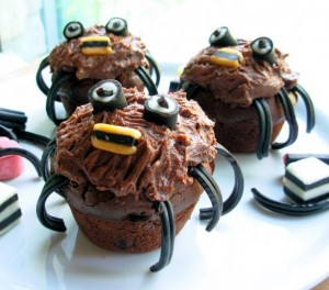 Spooky Spider Cakes for Halloween